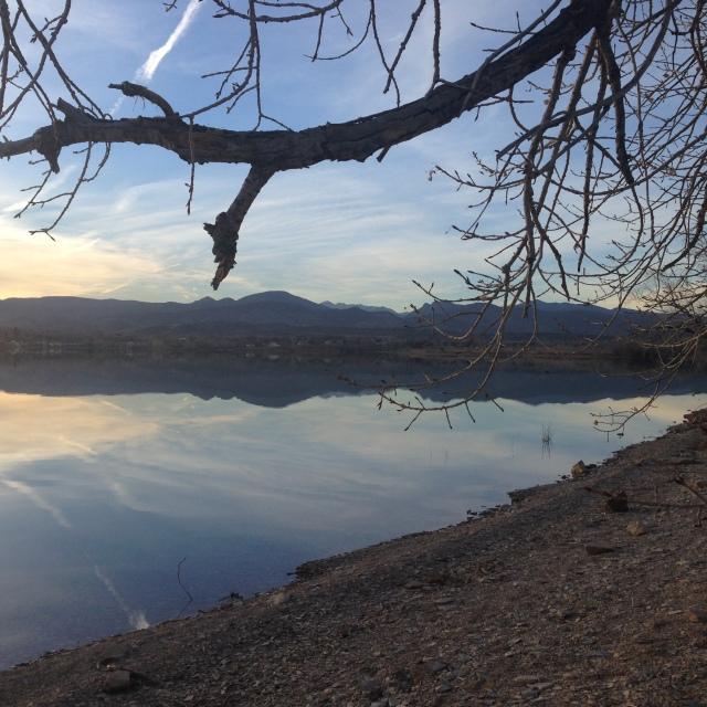 Boedecker lake one fine December afternoon