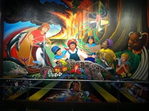 mural at DIA